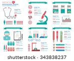 medical infographic of... | Shutterstock .eps vector #343838237