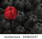 red umbrella with water drop... | Shutterstock . vector #343842437