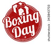 boxing day grunge rubber stamp... | Shutterstock .eps vector #343843703