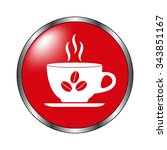cup of cofee   vector icon on... | Shutterstock .eps vector #343851167