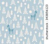 seamless background for winter... | Shutterstock .eps vector #343856123