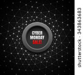 cyber monday sale black... | Shutterstock .eps vector #343863683