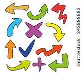 vector cartoon arrows | Shutterstock .eps vector #343888883