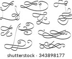 calligraphic elements curves... | Shutterstock .eps vector #343898177