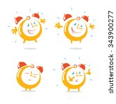 set of four emotions of alarm... | Shutterstock .eps vector #343900277
