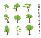tree design elements  ... | Shutterstock .eps vector #343905407