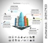 vector illustration of business ... | Shutterstock .eps vector #343917923