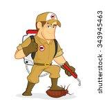 exterminator or pest control | Shutterstock .eps vector #343945463