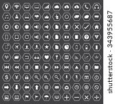 vector web icons  business... | Shutterstock .eps vector #343955687