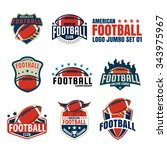 american football logo template ... | Shutterstock .eps vector #343975967
