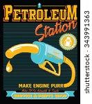 vintage gasoline retro signs... | Shutterstock .eps vector #343991363