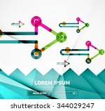 abstract square banner template ... | Shutterstock .eps vector #344029247