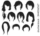 Hair Styling For Woman Drawing...