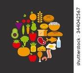 nutrition concept design ... | Shutterstock .eps vector #344042567