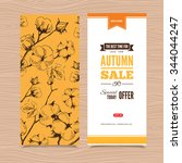autumn vector billboard  banner ... | Shutterstock .eps vector #344044247