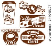 coffee design elements  coffee... | Shutterstock .eps vector #344045177