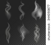 set of vector smoke swirls.... | Shutterstock .eps vector #344050877