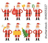 set characters santa claus | Shutterstock .eps vector #344055227