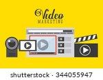 video marketing design  vector... | Shutterstock .eps vector #344055947