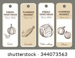 Hand Drawn Label Set With...