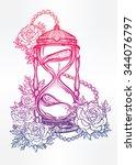 hand drawn romantic beautiful...   Shutterstock .eps vector #344076797