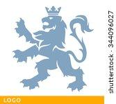 heraldic lion. logo template....   Shutterstock .eps vector #344096027