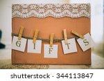 wedding gift box | Shutterstock . vector #344113847