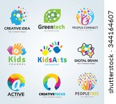 logo set logo collection idea... | Shutterstock .eps vector #344164607
