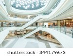 abstract ceiling and escalator... | Shutterstock . vector #344179673
