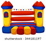 jumping castle with no children ... | Shutterstock .eps vector #344181197