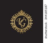 vg initial luxury ornament...