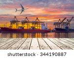 container cargo freight ship... | Shutterstock . vector #344190887