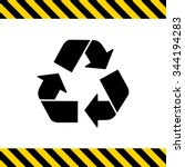 Vector Icon Of Recycling Sign...