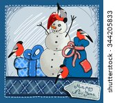christmas card design with...   Shutterstock .eps vector #344205833