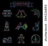 christmas colorful icons    new ...   Shutterstock .eps vector #344226893