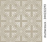 silver seamless pattern with... | Shutterstock .eps vector #344232293