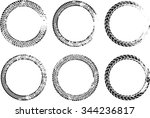 set of vector circles . tire... | Shutterstock .eps vector #344236817