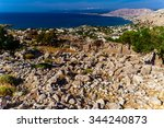 greece  island rhodes. top view ... | Shutterstock . vector #344240873