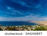 greece  island rhodes. top view ... | Shutterstock . vector #344240897