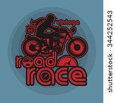 vintage motorcycle sport label  ... | Shutterstock .eps vector #344252543