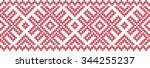 embroidered pattern on... | Shutterstock .eps vector #344255237