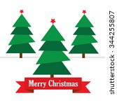 christmas tree. vector... | Shutterstock .eps vector #344255807