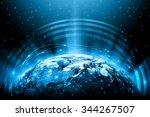 best internet concept. globe ... | Shutterstock . vector #344267507
