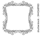 vintage vector frame with place ... | Shutterstock .eps vector #344268983