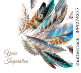 fashion  vector background with ... | Shutterstock .eps vector #344274377