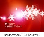 christmas red color abstract... | Shutterstock .eps vector #344281943