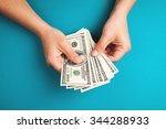 man counting money  economy... | Shutterstock . vector #344288933