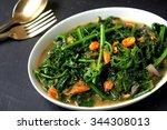 pucuck paku goreng belacan  ... | Shutterstock . vector #344308013