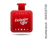 exclusive offer red vector icon ... | Shutterstock .eps vector #344310743