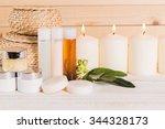 spa treatment  stone massage   Shutterstock . vector #344328173